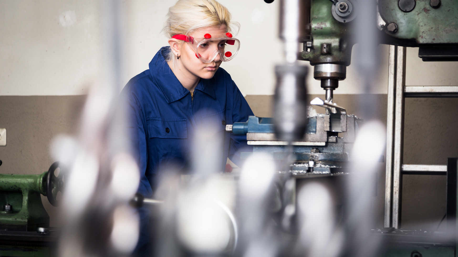 Woman in manufacturing